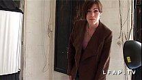 Sublime brunette francaise sodomisee et facialisee pour un casting porno amateur