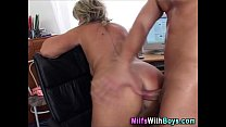 Blonde Mature Boss Anal Fuck With Applicant