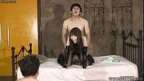 Aya Kisaki Japanese Femdom Cunnilingus and Fuck
