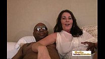 Mature interracial couple enters the exciting world of porn like pros