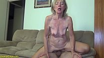 81 years old mom b. banged by stepson