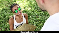 ExxxtraSmall - Petite Ebony (Kendall Woods) Bounces On A Stiff Big Cock