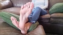 Sexy Long Toes and Soles Part 1- www.prettyfeetvideo.com