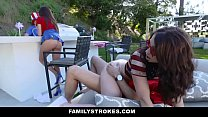 FamilyStrokes - Sexy Milf (Ariella Ferrara) Joins StepSon & (Jennifer Jacobs) In Threesome