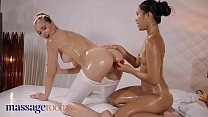 Massage Rooms Petite Asian May Thai shares dildo with Czech teen Stacy Cruz