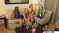 the party of the girls goes out of control