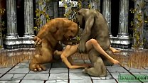 Orcish Threesome. 3D Porn Fantasy