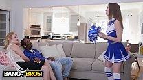 BANGBROS - Young Cheerleader Riley Reed Rides A Big Black Cock