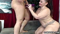 Two lesbians with big ass & tits equal double trouble