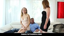 FamilyStrokes - Stepdaddy fucks stepdaughter (Cali Sparks) every time Wife leaves