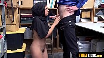 Muslim chick with a hijab gets fucked hard by a cop