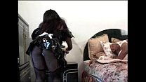 Big titted black honey Sierra as french maid screwing the guest