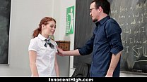 InnocentHigh - Slutty Schoolgirl (Alice Green) Seduces Her Teacher