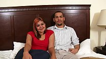 Amateur couple bang for their first time on camera