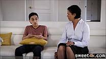 Teen Son tastes mature Moms pussy