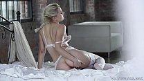 Hot blonde Scarlett enjoys deep anal fuck