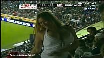 Soccer Fan with Bouncy Boobs