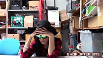 Desperate Shoplifting Babe Back-Room Sex-Tape