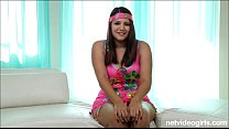Dirty teen with massive tits auditions