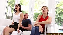 Malina Mars wake step dad with a hot blowjob