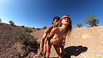 Fit Couple fuck in the desert near Las Vegas
