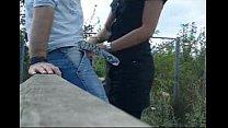 outdoor amateur blowjob