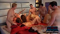 Newbie swinger couple enjoy fucking with other couples