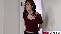 Hot fucking lessons with Nina and stepmom Alana