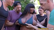 Group Sex with Busty Ebony Rachel Raxxx