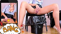 Blonde secretary MILF masturbating and squirting in the trash can at work   LIVE HERE: katehaven.hotcams.com