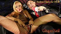 Ginger Hell puts a lollipop in her vagina for Andrea Diprè