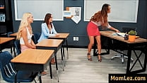 parent-teacher meeting with daughter