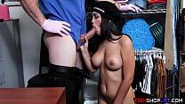 Big boobs latina teen thief Alina Belle caught stealing