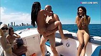 Boat party of teen besties and group sex
