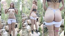 Amazing Natural Tits Amateur Stretches Tight Pussy in Public Masturbation - Molly Pills - Big Dildo Fucking Outdoors Huge Ass - Horny Hiking