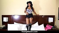 TeenyBlack - Busty Canadian Ebony (Jenna Foxx) Porn Debut