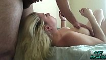 Dumb Blonde 18 Year Old Face Fucked w/ Cumshot