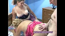Swinging Chloe in a threesome with a curvy MILF
