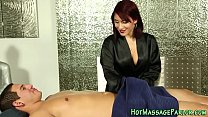 Cummy mouthed masseuse