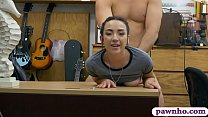 Teen cutie screwed by pervert pawn dude in his office