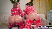 Big Butt Girl (Allie Haze & Harley Jade) Get Oiled And Deep Anal Nailed On Cam video-06