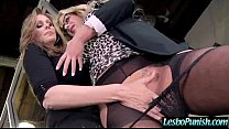 Hot Lez Get Toy Sex Punishment From Mean Lesbo clip-28