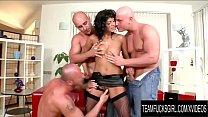 Team Fucks Girl - Cock Hungry Tera Joy Gets a DP Gangbang by Three Bald Men