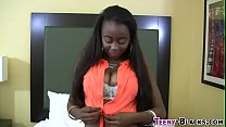 Ebony honey gets facial