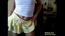 Teasing Teen Slut Pulling Down Tiny G-String Amateur Webcam