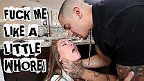 ABUSE ME - Young Teen Kirsten Lee Asks Her Boyfriend Bruno Dickemz To Fuck Her Hard