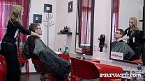 Cutie Teen Hairdresser Lady Bug Tries Anal