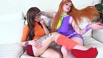 COSPLAY BABES Scooby Doo sluts Daphne and Velma eat pussy
