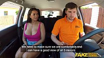 Fake Driving School Chloe Lamour gets her big tits out