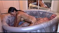 Drenched in Oil - Fucked and Creamed (Creampie)
